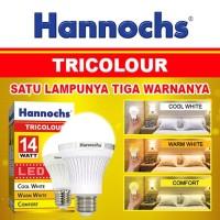 Hannochs Tricolour Lampu Bohlam LED 14 watt 14w - Lampu 3 mode Warna