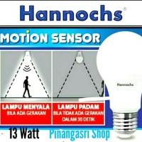 Motion Sensor HANNOCHS 13w Lampu Led Sensor Gerak Hannoch 13watt 13