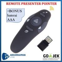 Wireless Pointer USB Remote Control Power Point Presenter Laser RF Pen