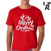 Kaos Natal Warna Merah Cocok Untuk Kado Natal Pria dan Wanita