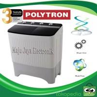 Mesin Cuci 2 Tabung Polytron 10 Kg PWM1057 Kering dan Cuci Garansi 5TH