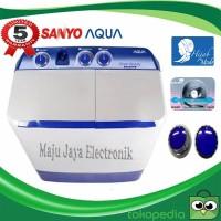 Mesin Cuci 2 Tabung Aqua 781 Hijab Mode 7.5 KG Cuci dan Kering