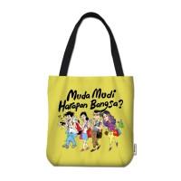 Tote Bag Mice Cartoon: Muda Mudi Harapan Bangsa? (kuning)