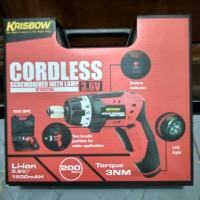 Mesin Bor obeng krisbow cordless screwdriver lamp led charger