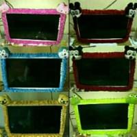 Paket 2 pcs Bando Cover Tutup Sarung TV LED 21 - 32 Inch Karakter