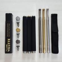 [ASLI] Stick Baton YRG Baton Stick YRG Pentungan Tongkat Besi Padat - Hitam