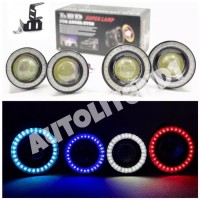 FOGLAMP ANGEL EYES LUXEON 76mm dan 89mm LED HPL set