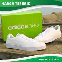 Sepatu Adidas Neo Advantage Full White Pria Wanita PREMIUM CLEAN Murah