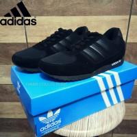 Sepatu Sekolah Adidas Neo Full Black Hitam Untuk Anak Pria Cowo Laki