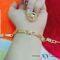 xuping gelang cincin lapis emas putih 24k 1960