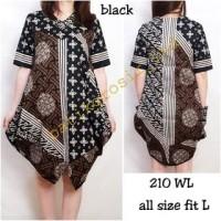 GROSIRAN DRESS 210 WL DRESS BATIK MODEL BABY DOLL BAHAN KATUN STRETC
