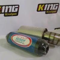 knalpot Mobil Muffler JS Racing Stainless Dan RESONATOR Scoot
