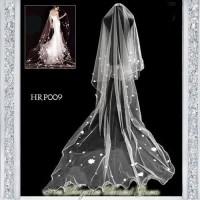 Slayer Wedding l Kerudung Rambut Pengantin l Veil Pesta Modern- HRP009 - Putih