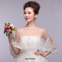 Bolero Pesta Lace Pengantin Modern l Aksesoris Wedding Wanita - BWW003