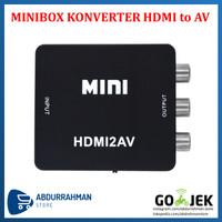 Minibox HDMI To AV RCA CVBS Adapter / Mini HDMI2AV Converter Box IMPOR