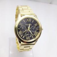 jam tangan fashion geneva chronograph chain watch jwa051