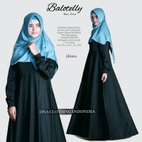 baloteli dres gamis maxy polos umbrella busui simple ori dna