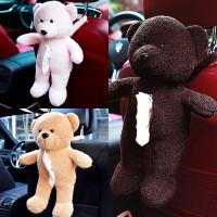Tempat / Gantungan / Box Tissue / Tisu Mobil Boneka Beruang - 3 Warna
