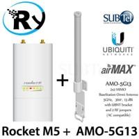 Paket Ubiquiti Rocket M5 + Ubnt Omni Amo-5G13 Amo 5G13