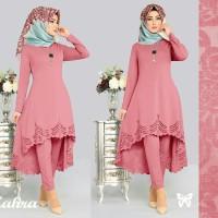 Maxi / Gamis / Setelan dress Wanita Muslim Zahra + Celana High Quality