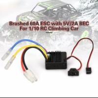 Esc Brushed 60a Dgn 5V/2A BEC utk HSP HPI Kyosho 1/10 rc car climbing