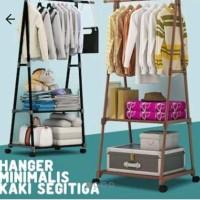 Stand hanger triangle gantungan rak baju