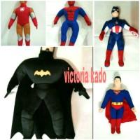 Boneka Superman Batman Spiderman Ironman Capten Amerika Avengers