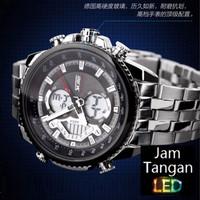 Jam Tangan Pria Digital Analog SKMEI 0993 White Water Resistant 30M