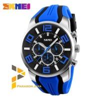 Jam Tangan SKMEI 9128 Men Sport Analog Watch Water Merah Original
