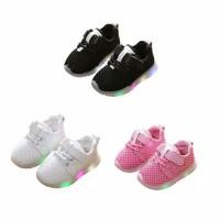 Lovely Baby Boys Girls LED Soft Breathable Shoes Balita Sepatu Sport