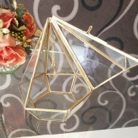 terarium box cincin kotak kaca wedding ring glass box terrarium gold