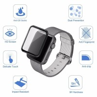 Tempered Glass Apple Watch 4 3D FULL COVER CURVED 40mm 44mm Anti Gores