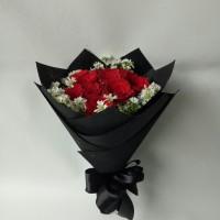 Buket bunga mawar asli bucket wisuda hadiah ulang tahun