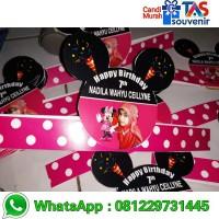 topi ulang tahun anak unik tema minie mickey mouse hits