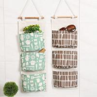 Pouch Rak Gantung Storage Bag Box Cantol Cosmetic Pouch HP 3 Sekat F71