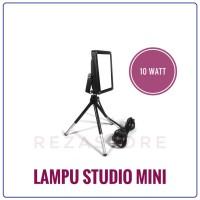 Lampu Foto Studio Mini 10 Watt Murah Tripod 30cm Lighting Foto Produk