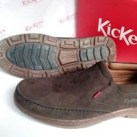 Sepatu Casual Kickers Pria KR 9018 Coklat Swede