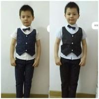 Setelan Baju Anak Laki-laki/Setelan Kemeja Rompi Celana Panjang Import