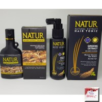 Natur shampo ginseng 80 Ml Tonic Ginseng 90 Ml