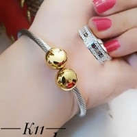 titanium gelang cincin lapis emas putih 24k 2010