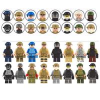 City SWAT Elite Forces Army Navy SEAL Squad Tentara Minifigure Lego kw