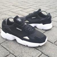 Sneakers Sepatu Adidas Falcon Black White Original