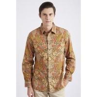 GROSIRAN Asana Nusapati Long Sleeves Batik Pria Brown