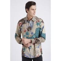 GROSIRAN Asana Panaragan Long Sleeves Batik Pria Green