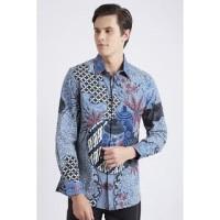 GROSIRAN Asana Armagiri Long Sleeves Batik Pria Blue