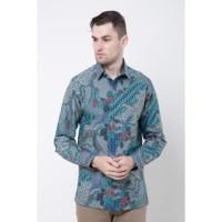 GROSIRAN Asana Pariraja Long Sleeves Batik Pria Turquoise