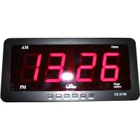 Jam dinding/meja digital angka besar ada alarm ukuran 21x10x3cm