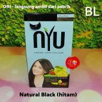 Pewarna Cat Rambut NYU Creme Hair Colour Natural Black Hitam
