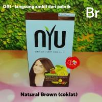 Pewarna Cat Rambut NYU Creme Hair Colour Natural Brown Coklat