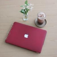 macbook mac book NEW 12 inch mac RED MAROON WINE Doff cover hard case